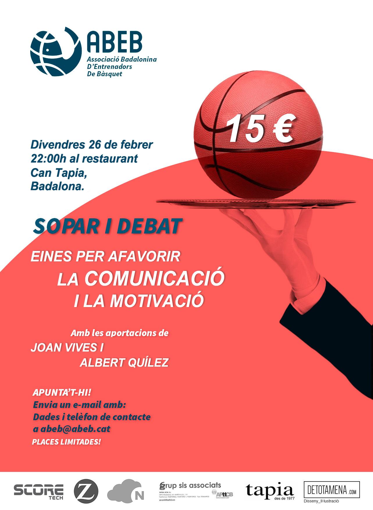 Sopar-Debat sobre Comunicació i Motivació – 26/02/16