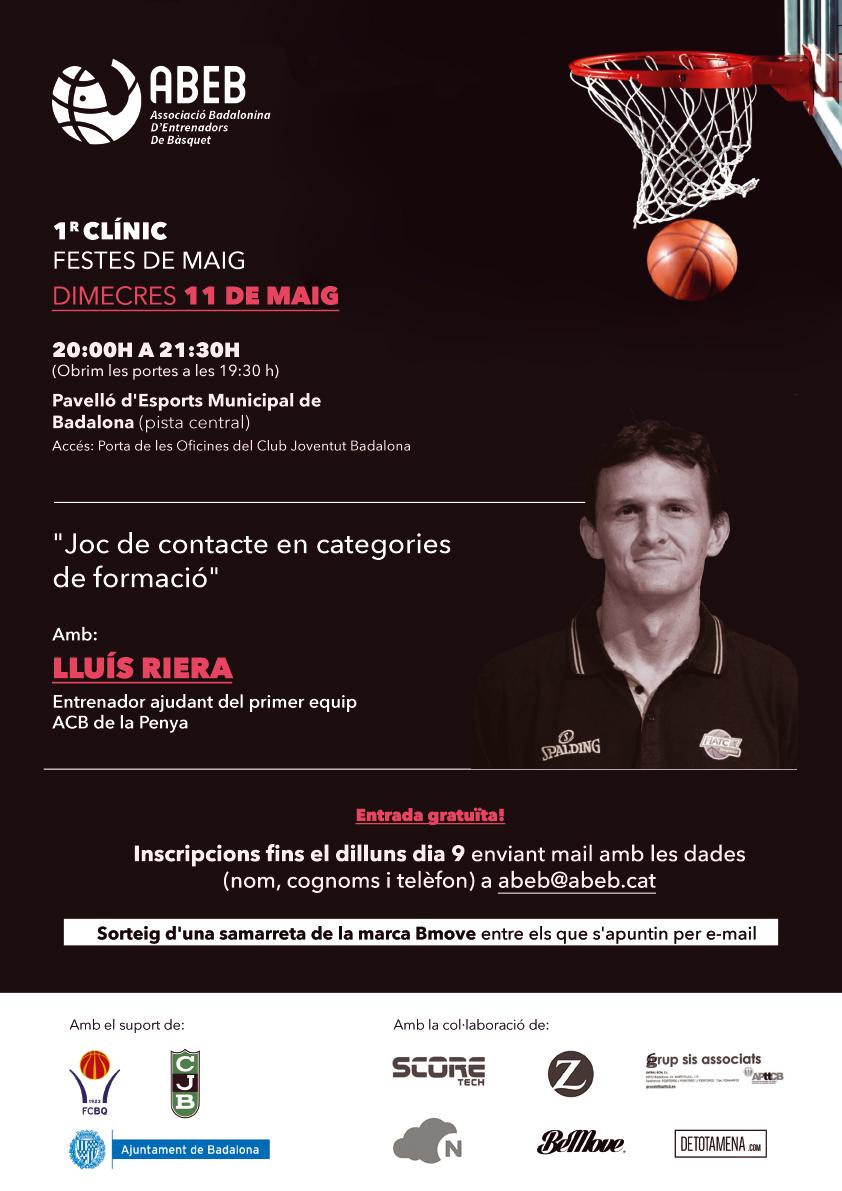 """1r Clínic """"Festes de Maig"""" amb en Lluís Riera"""