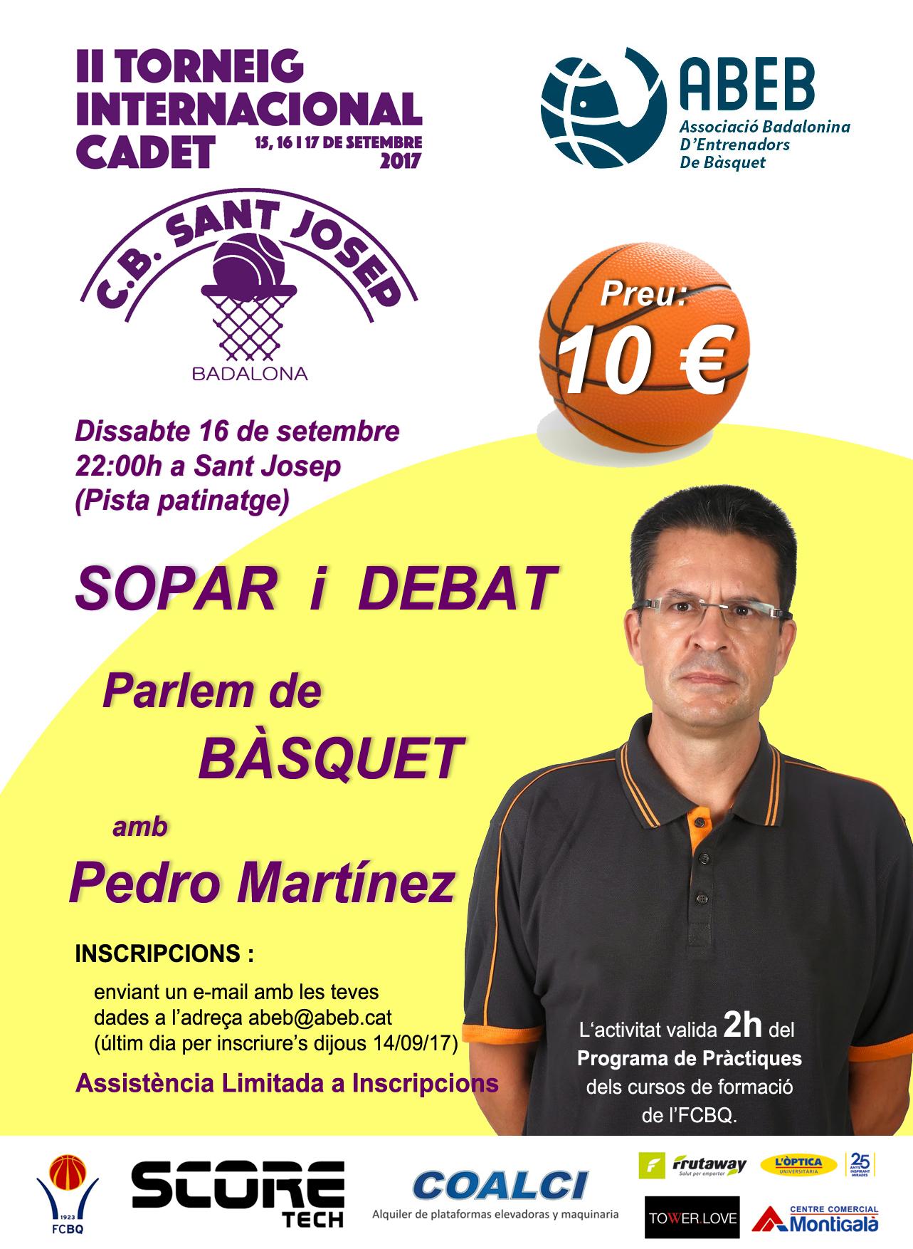 Sopar – debat amb en Pedro Martínez