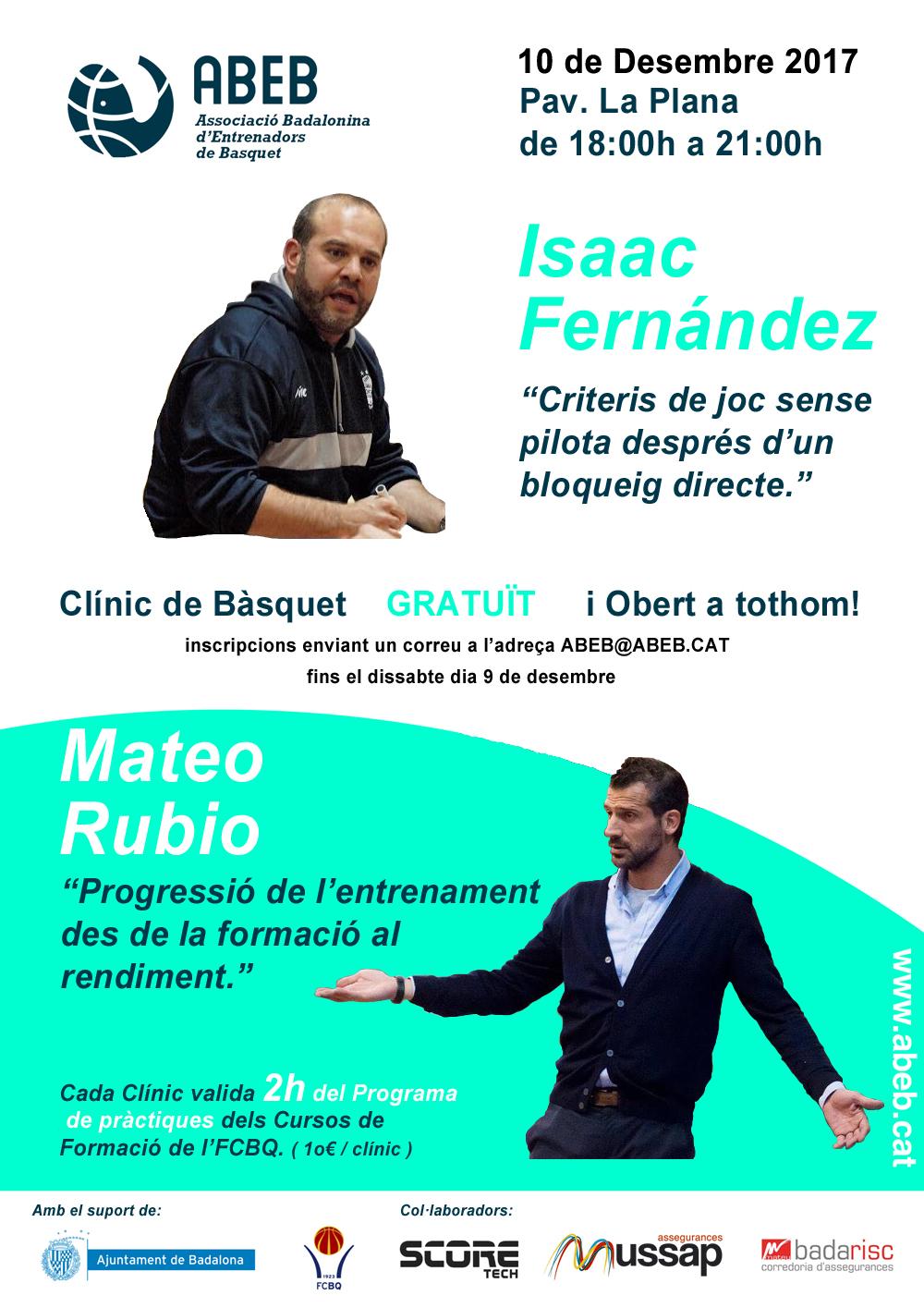 CLÍNIC ABEB – amb l'Isaac Fernández i en Mateo Rubio