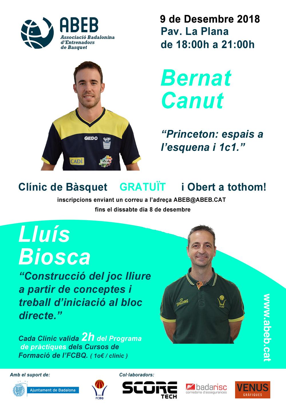 CLÍNIC de Nadal – amb en Bernat Canut i en Lluís Biosca