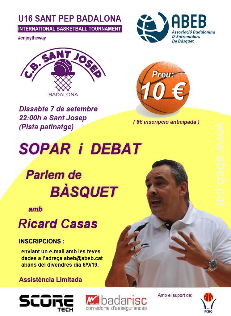 Sopar i debat amb en Ricard Casas